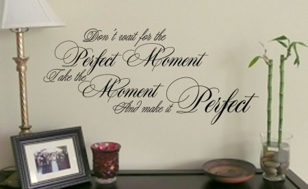 Perfect Moment wall art decal