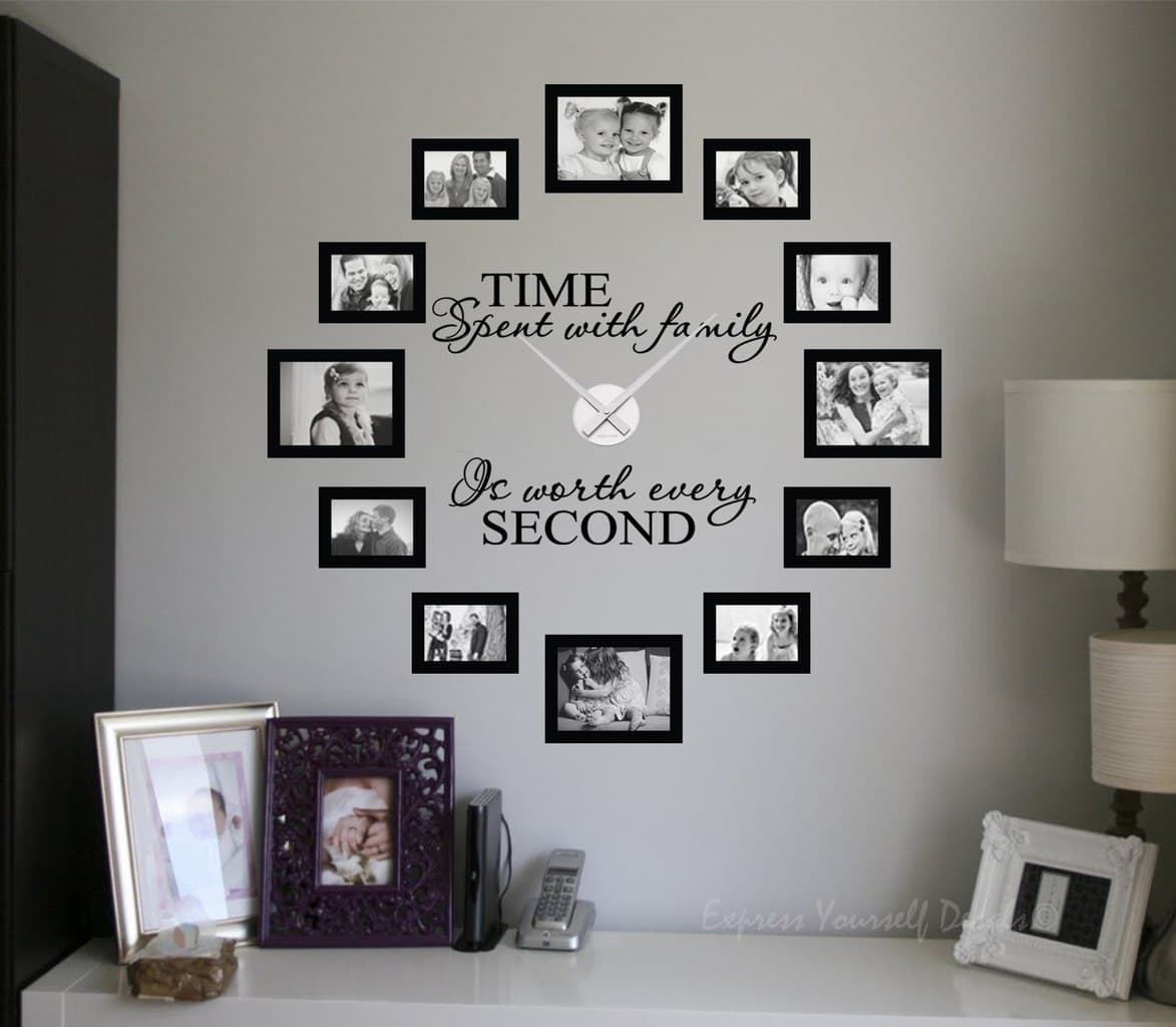 designer wall decals stickers amazing quality unique designs time spent picture frame clock