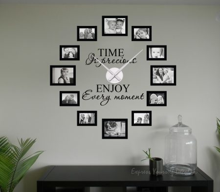Time is precious picture frame clock