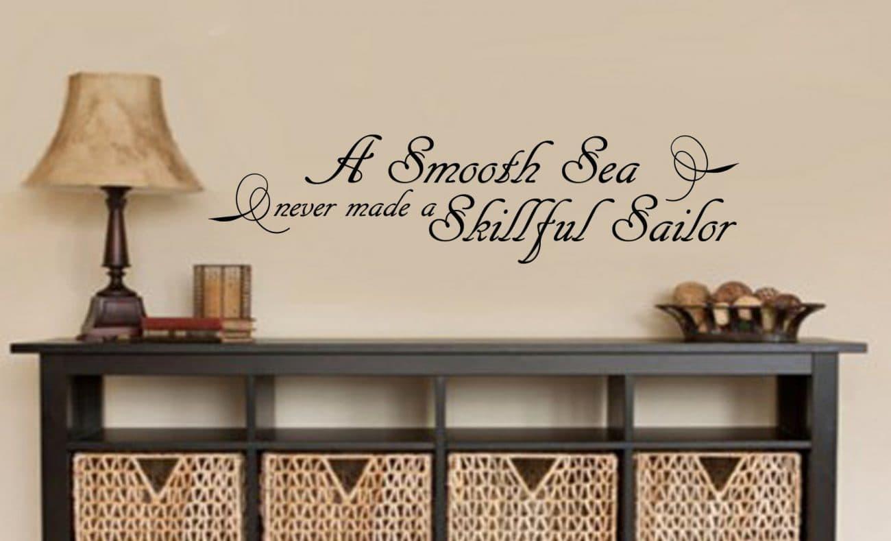 A smooth sea wall art decal