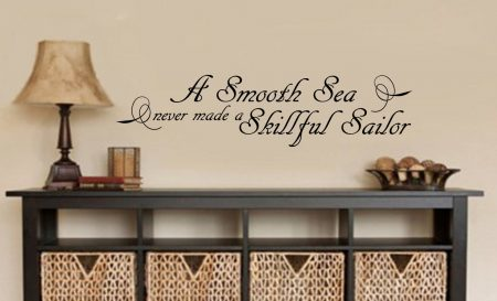 A smooth sea wall art decal