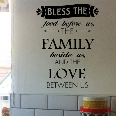Bless the food wall art decal