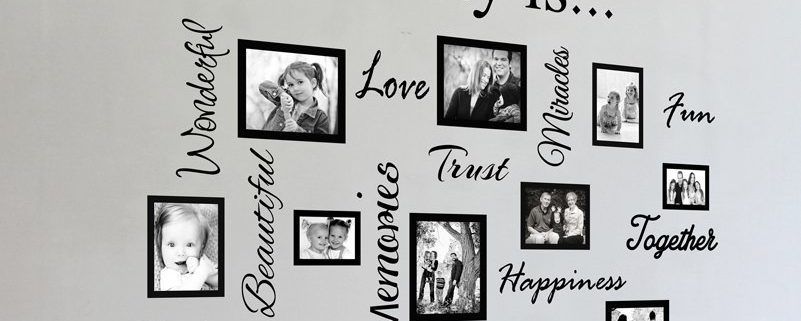 Vinyl decal picture frames