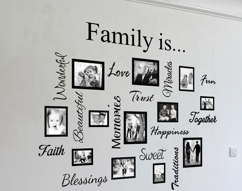 Vinyl decal picture frames | Vinyl decal picture frame stickers