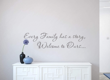 Family story wall decal