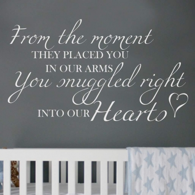 From the moment wall art decal