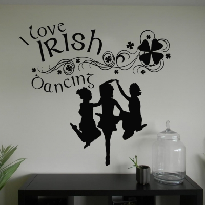 I love Irish dancing wall art decal