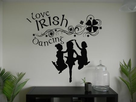 I love Irish dancing wall art decal