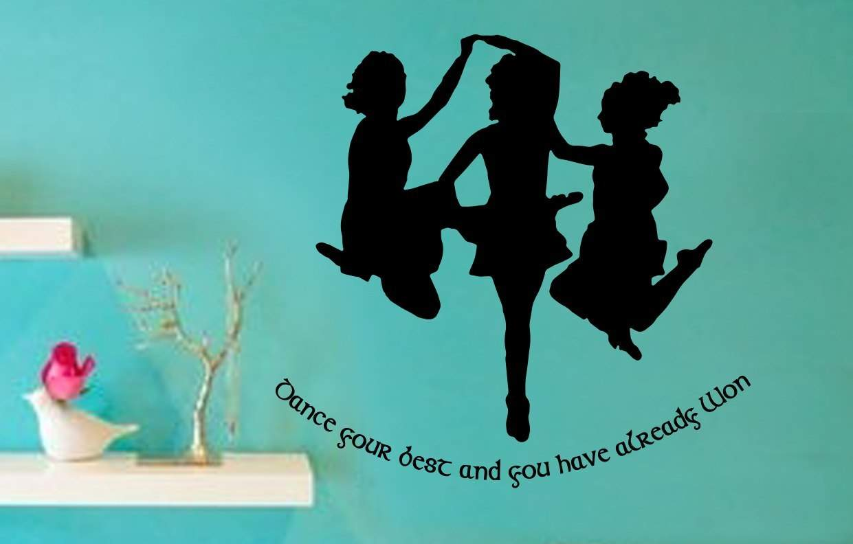 Irish dance already won wall art decal