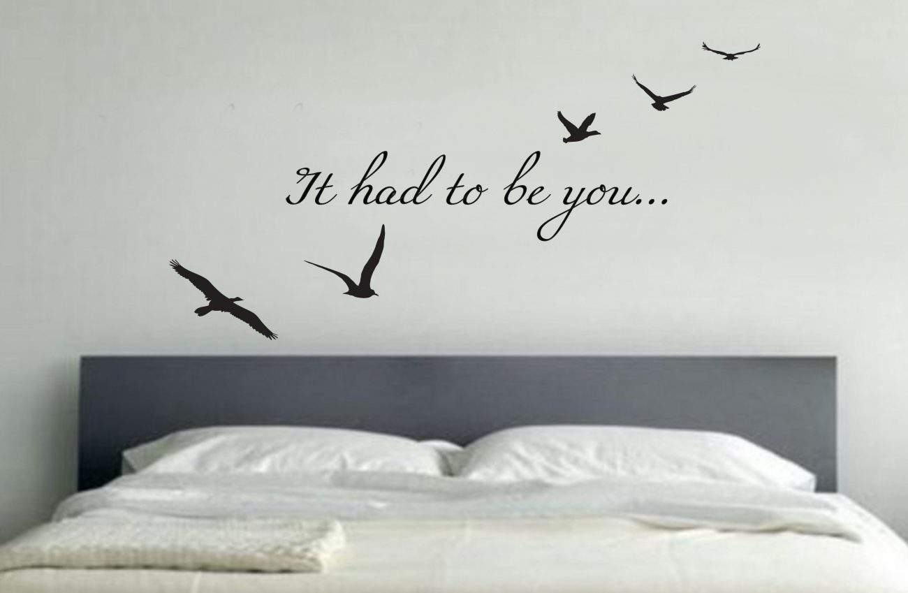 It had to be you wall art decal
