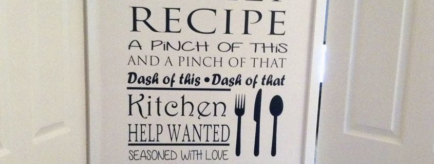 Family recipe rules - wall art decal