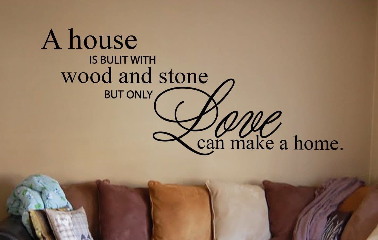 Wood And Stone Wall Decal Wall Art Decal Sticker