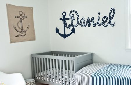 Personalised anchor wall art decal