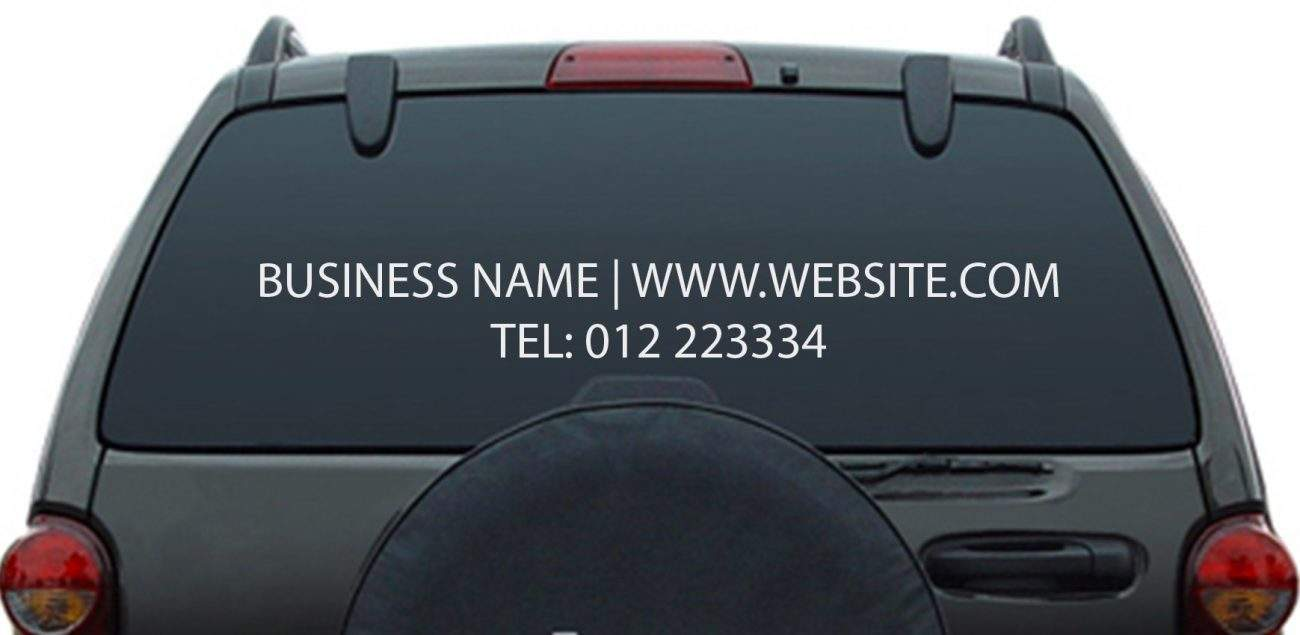 Business name vehicle decal sticker