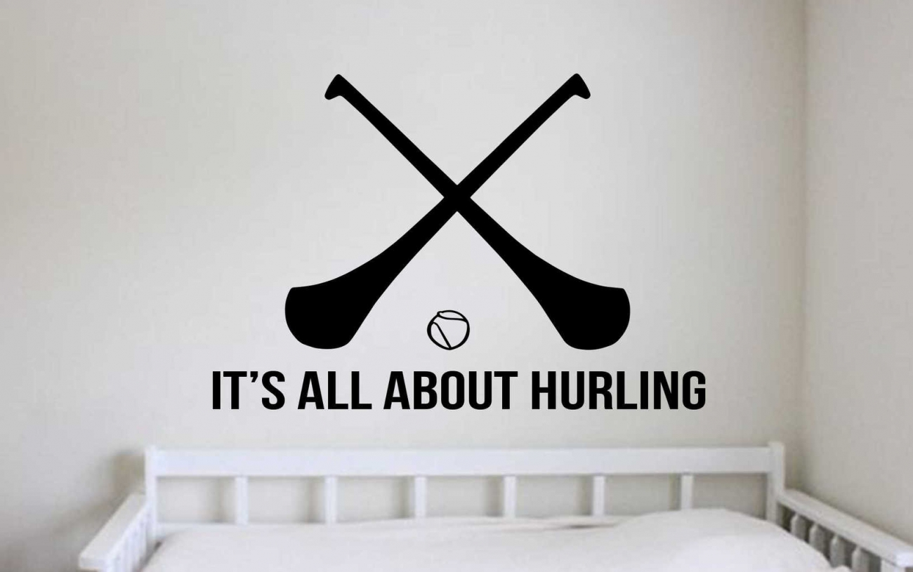 All about hurling wall art decal sticker