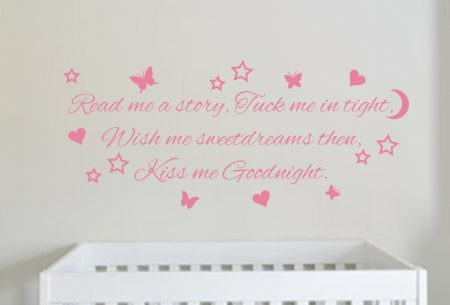 Kiss me goodnight wall art decal sticker