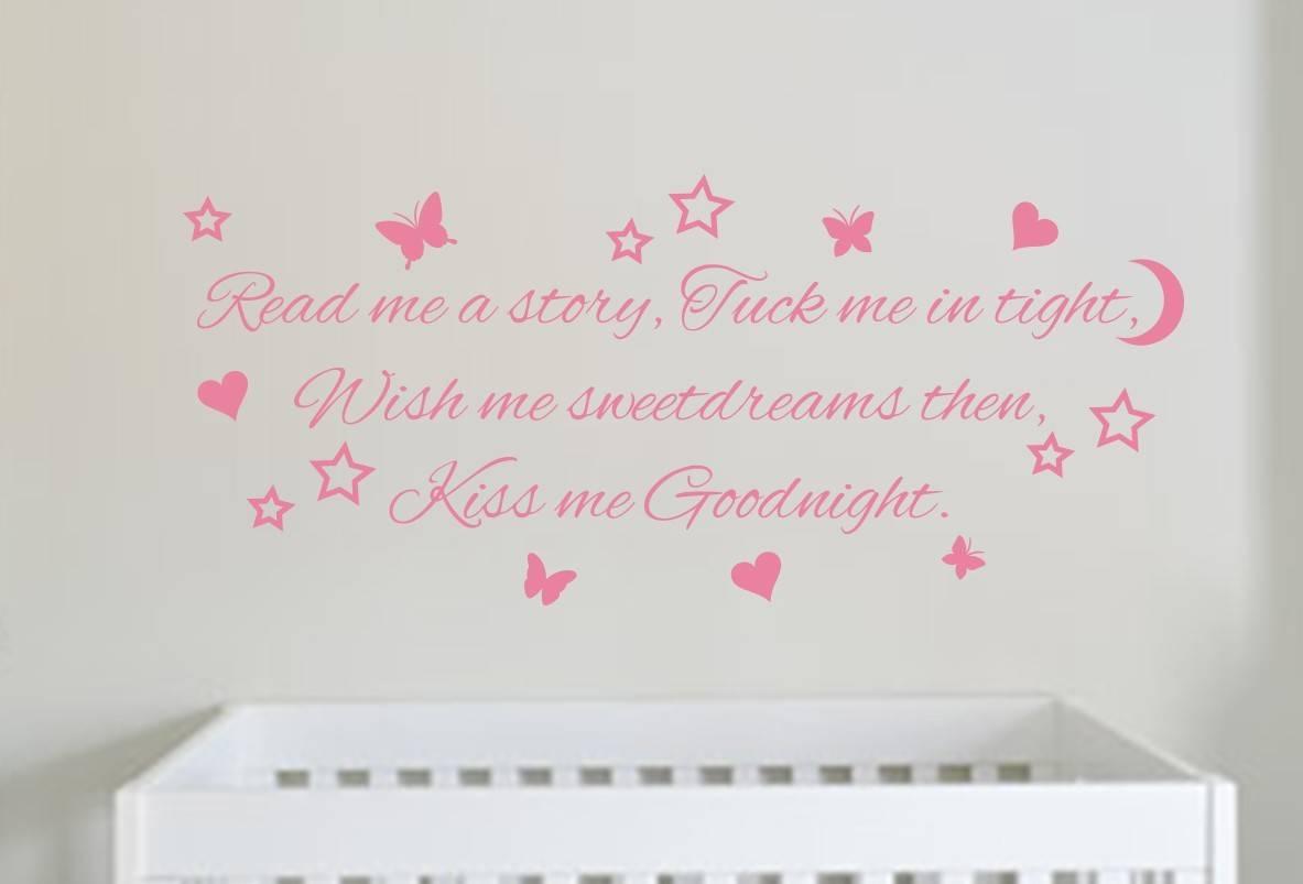 Kiss me goodnight wall art decal sticker
