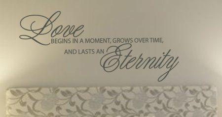 Love begins wall art decal sticker