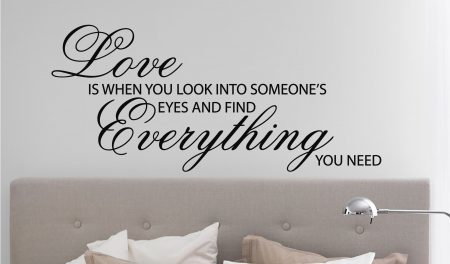 Love is when wall art decal sticker