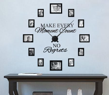 No regrets picture frame clock (Large)