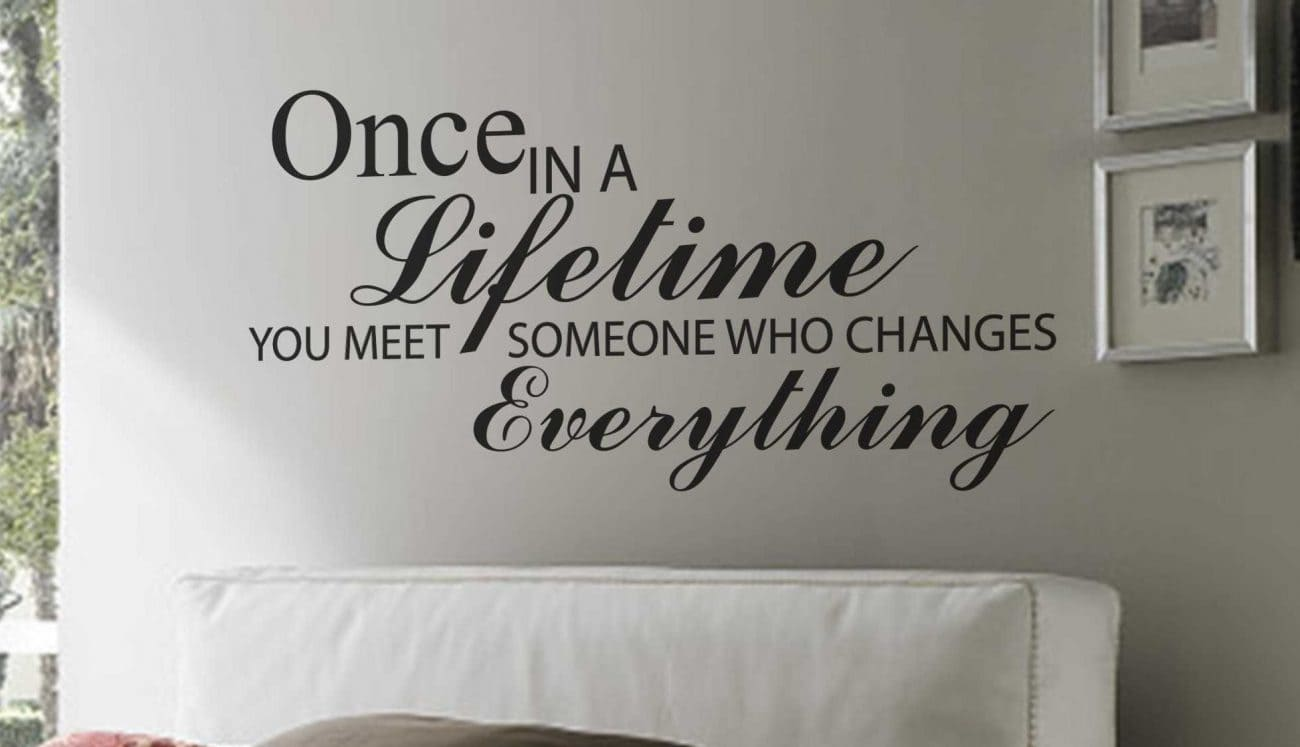 Once in a lifetime wall art decal sticker
