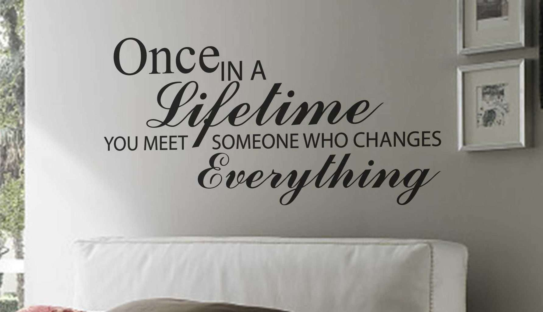 Once In A Lifetime Wall Art Decal Sticker Wall Art Decal