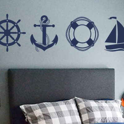 Sailing icons wall decal sticker