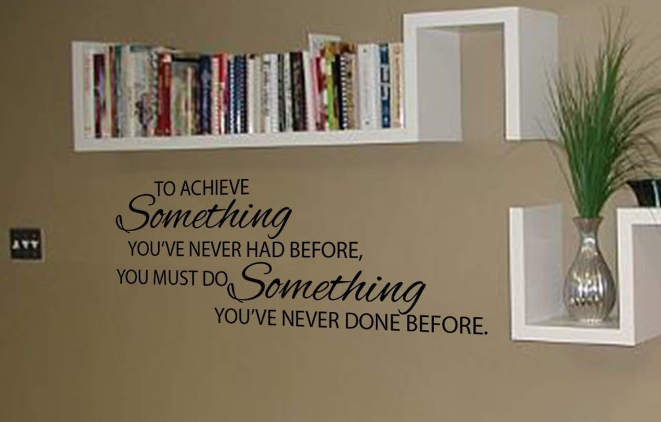 To achieve something wall art