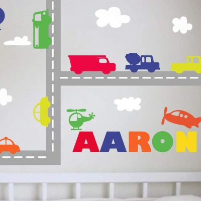 Traffic personalised wall art decal sticker