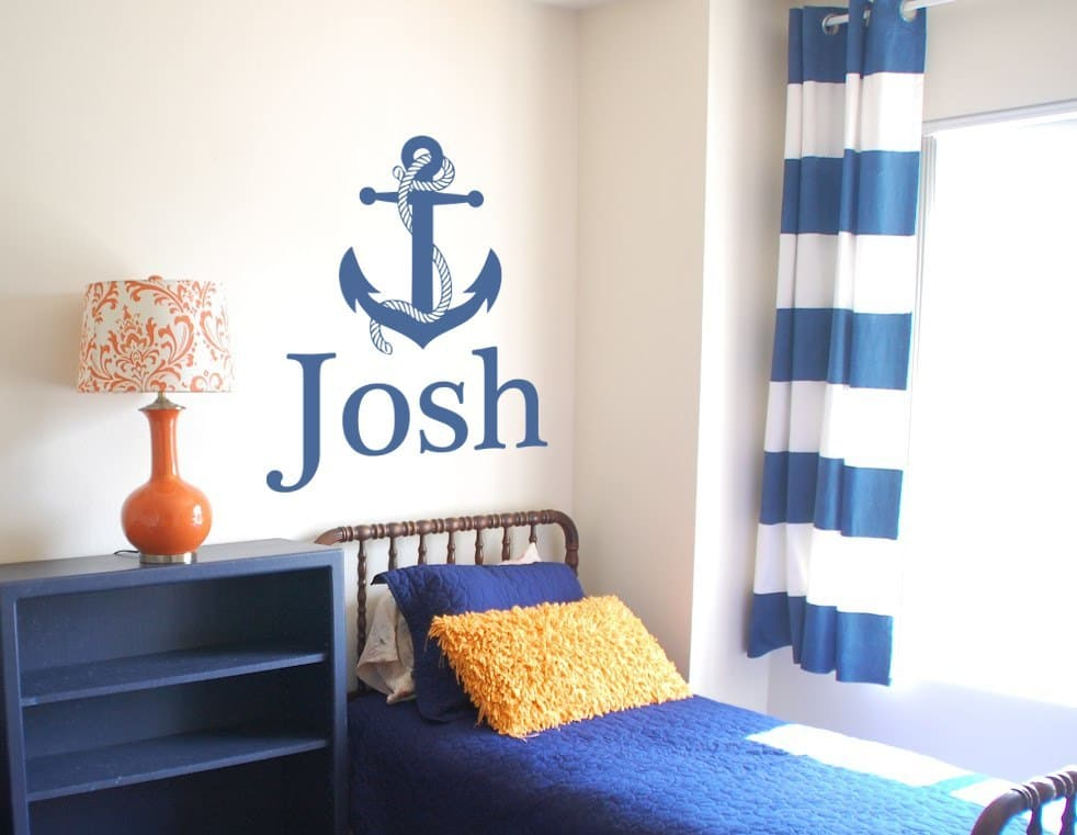 Anchor personalised wall art decal