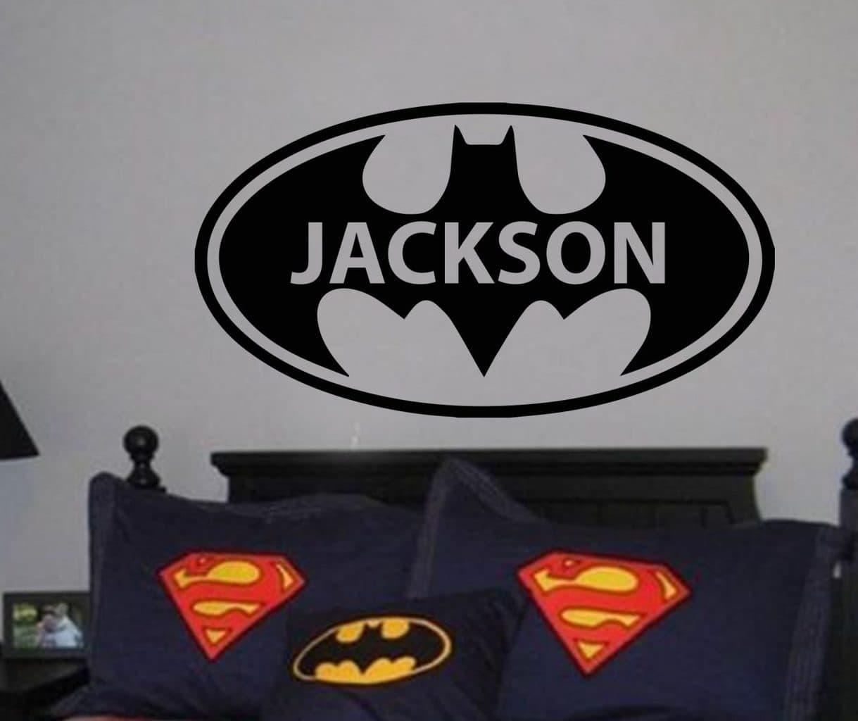 Batman personalised wall art decal sticker