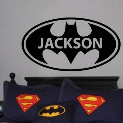Batman personalised wall art decal sticker