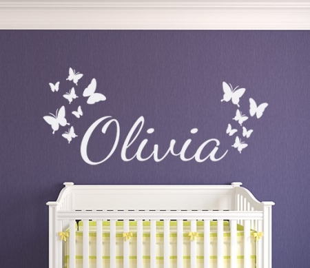 Butterflies personalised wall art decal sticker