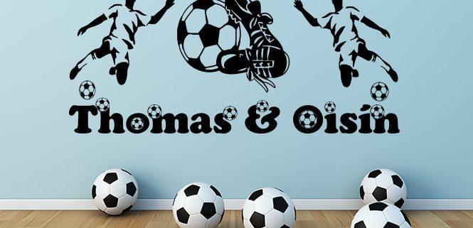 Football boys names wall art decal sticker