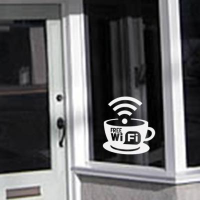 Free Wifi window decal sticker