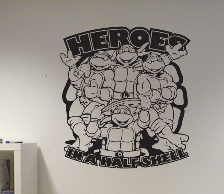 Heroes in a half shell | Turtles wall art decal sticker
