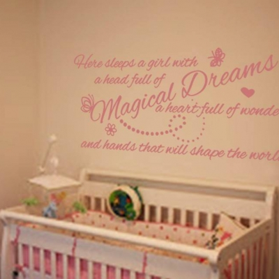 Magical dreams wall art decal sticker
