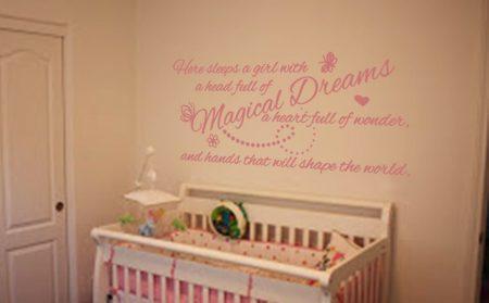 Magical dreams wall art decal sticker