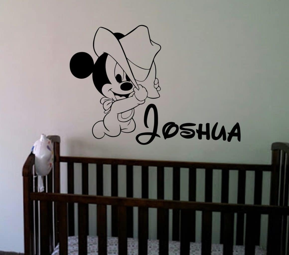 Mickey mouse baby wall art decal sticker