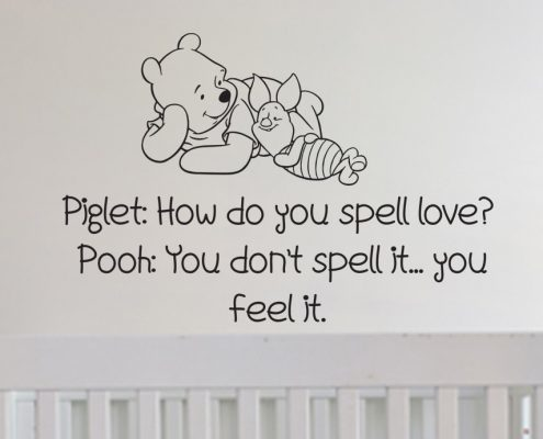 Piglet and Pooh wall art decal