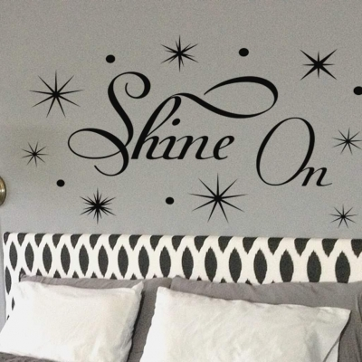 Shine on wall art decal sticker