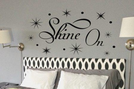 Shine on wall art decal sticker