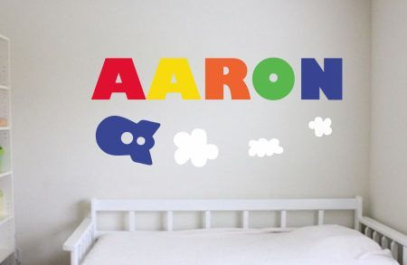 Spaceship personalised wall art decal sticker