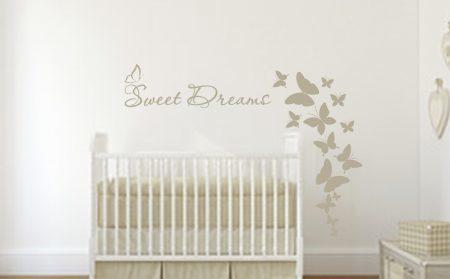 Sweet dreams butterflies wall art decal sticker