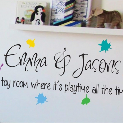 Personalised Toy Room decal