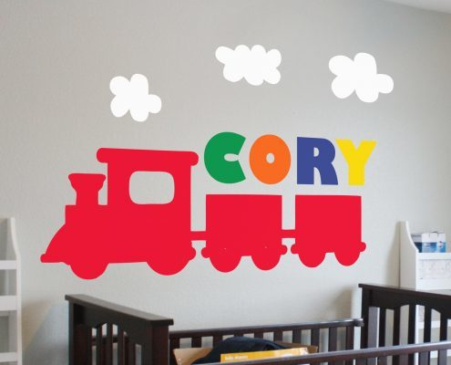 Train personalised wall art decal sticker