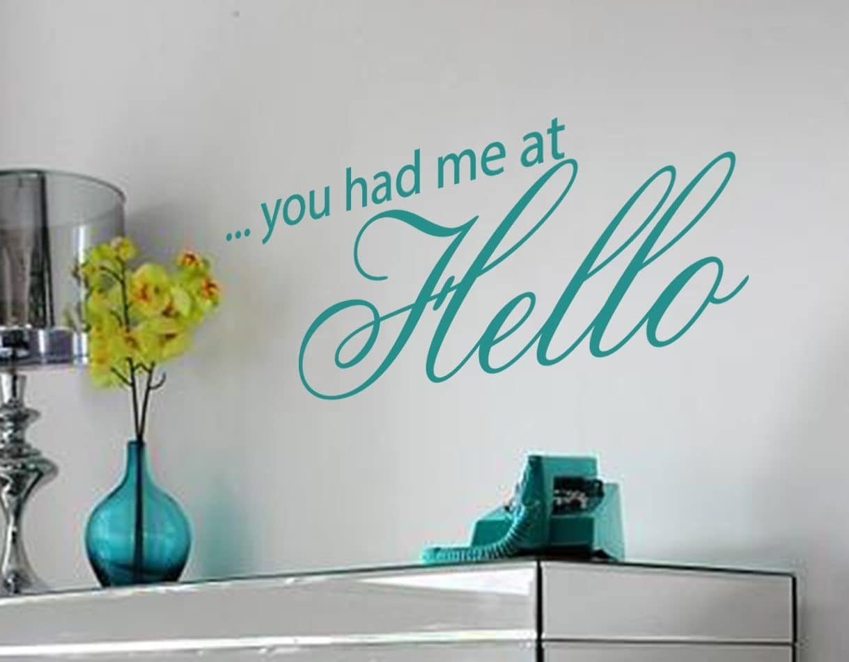 You had me at hello wall art decal