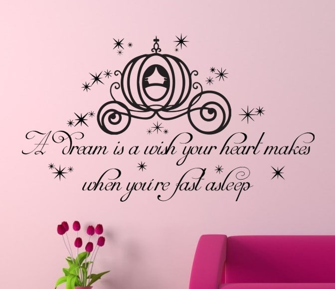 Cinderella Wall Art from Express Yourself Decals A Dream Is A Wish Your Heart Makes Images