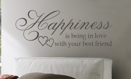 Happiness is being in love - wall art decal sticker | Romantic wall art
