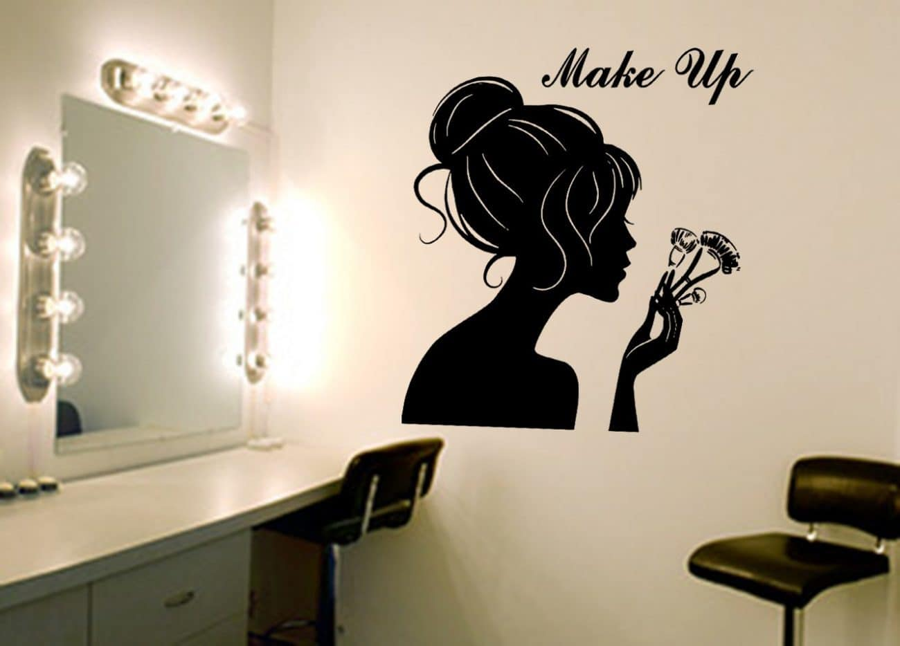 Make-up wall art decal